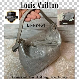 Like new Louis Vuitton satchel bag cymar halo gray